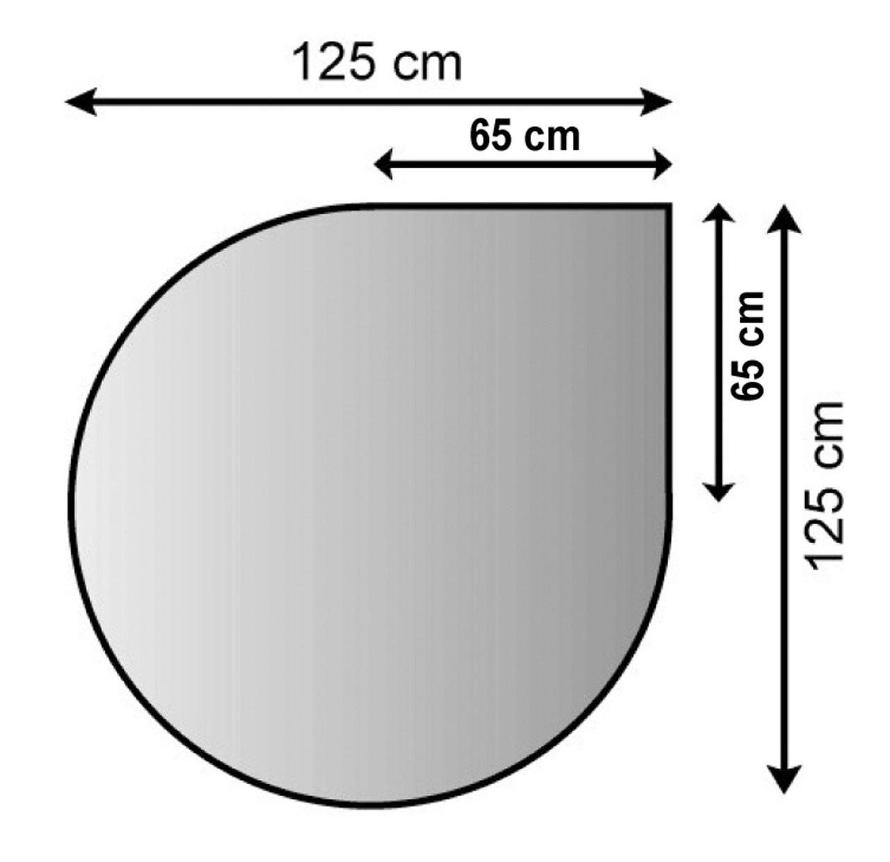 Funkenschutzplatte / Bodenblech Lienbacher schwarz Tropfen 125x125cm Bild 1