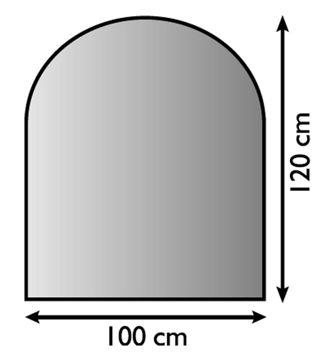 Funkenschutzplatte / Bodenblech Lienbacher schwarz halbrund 100x120cm Bild 1