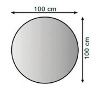 Funkenschutzplatte / Bodenblech Lienbacher schwarz rund Ø 100cm Bild 1