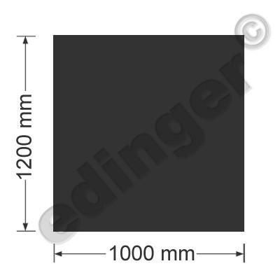 Funkenschutzplatte Bodenplatte 4-eckig schwarz 1200x1000 mm Bild 1