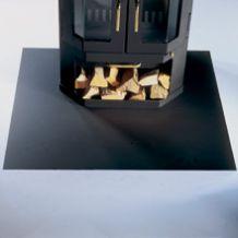 Funkenschutzplatte Bodenplatte 6-eckig Senotherm schwarz 1200x1000 mm Bild 2