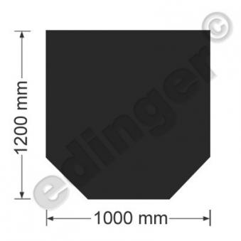 Funkenschutzplatte Bodenplatte 6-eckig Senotherm schwarz 1200x1000 mm Bild 1