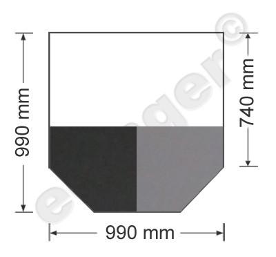 Funkenschutzplatte Bodenplatte 6-eckig schwarz/grau 990x990mm Bild 1