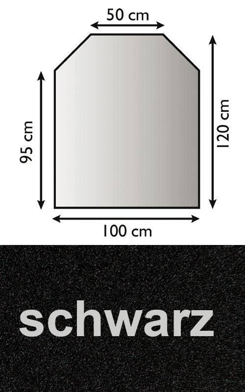 Funkenschutzplatte Bodenplatte Lienbacher schwarz Trapez 100x95/120cm Bild 1