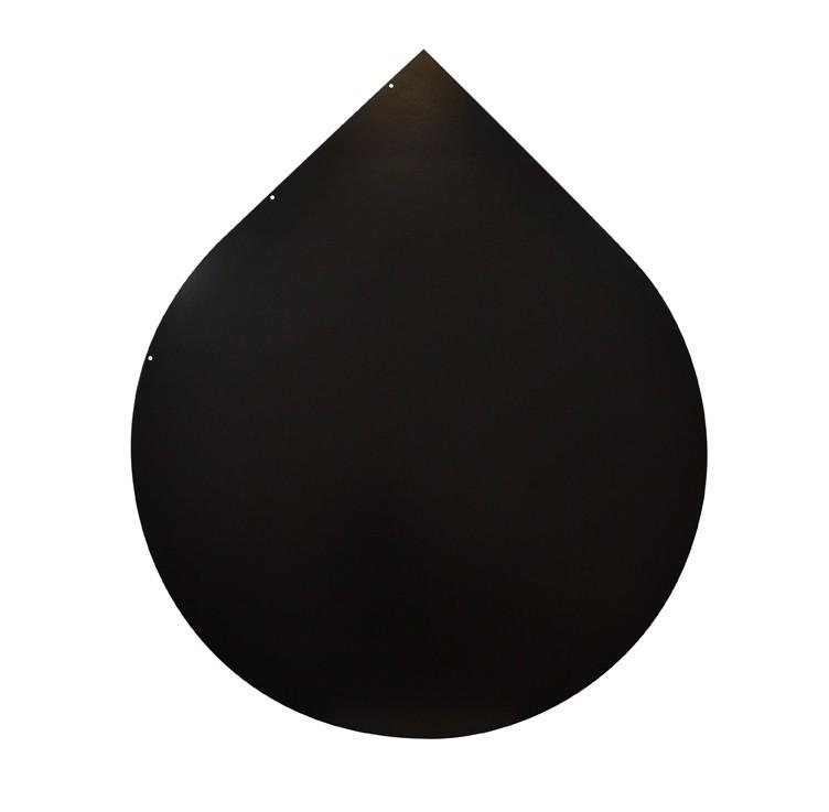 Funkenschutzplatte / Bodenplatte Stahl grau / schwarz Ø 110cm Tropfen Bild 2