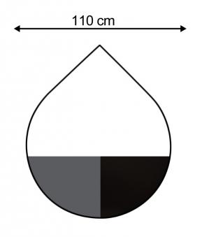 Funkenschutzplatte / Bodenplatte Stahl grau / schwarz Ø 110cm Tropfen Bild 1