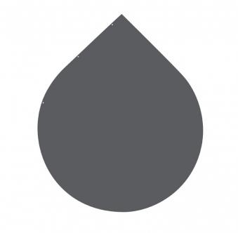 Funkenschutzplatte / Bodenplatte Stahl grau / schwarz Ø 110cm Tropfen Bild 3