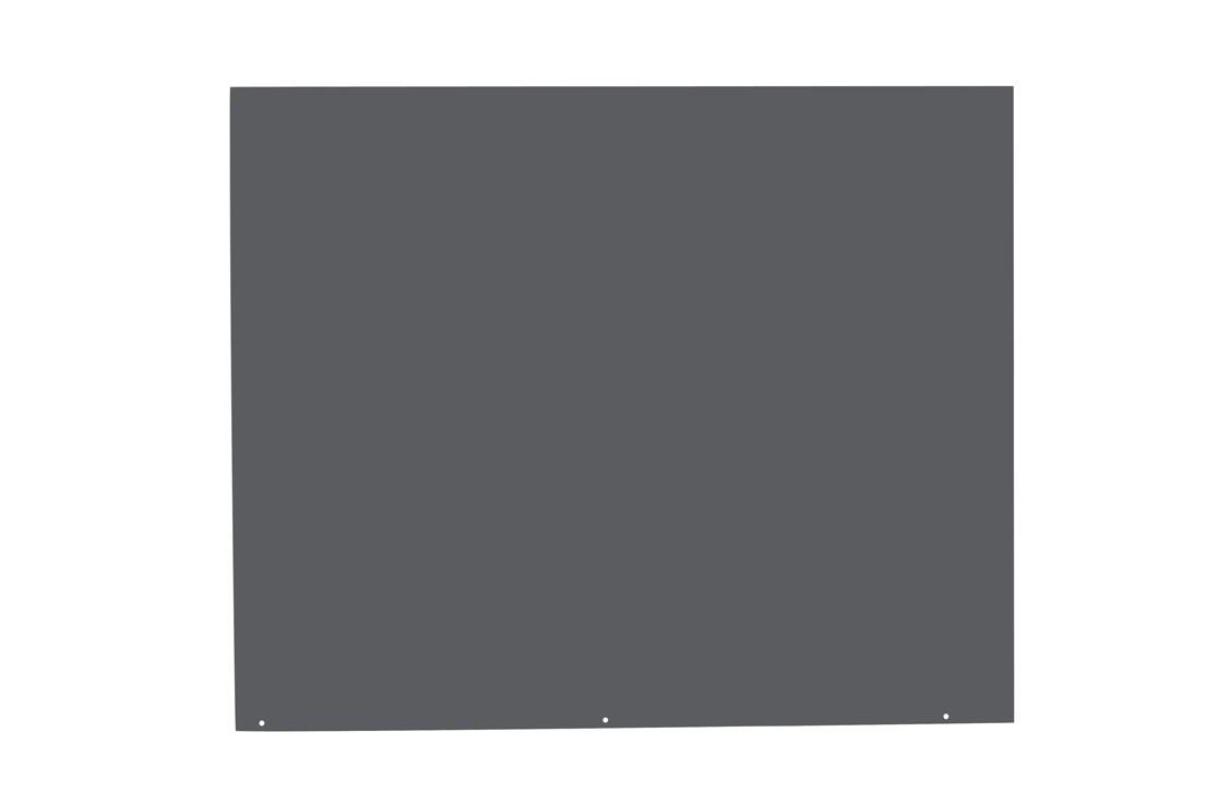 Funkenschutzplatte / Bodenplatte Stahl grau / schwarz 100x120cm 4-Eck Bild 3