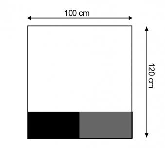 Funkenschutzplatte / Bodenplatte Stahl grau / schwarz 100x120cm 4-Eck Bild 1