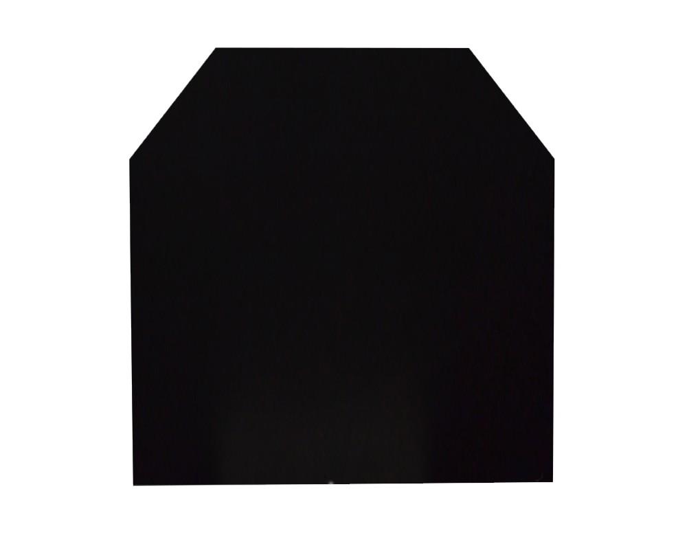 Funkenschutzplatte / Bodenplatte Stahl grau / schwarz 100x120cm 6-Eck Bild 2