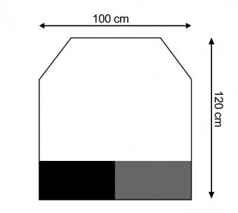 Funkenschutzplatte / Bodenplatte Stahl grau / schwarz 100x120cm 6-Eck Bild 1