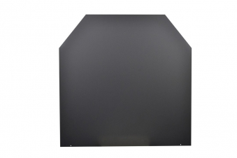 Funkenschutzplatte / Bodenplatte Stahl grau / schwarz 100x120cm 6-Eck Bild 3