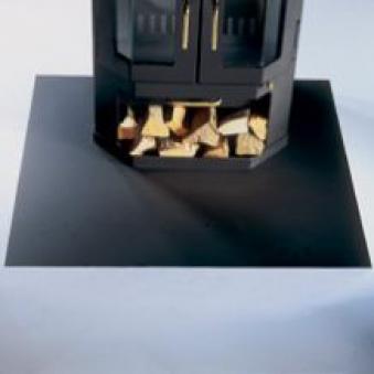 funkenschutzplatte bodenplatte aus glas und metall bei. Black Bedroom Furniture Sets. Home Design Ideas