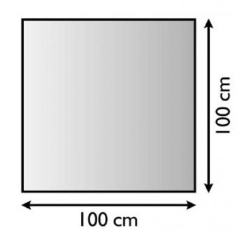 Funkenschutzplatte / Bodenplatte Lienbacher silber 4-Eck 100x100cm Bild 1
