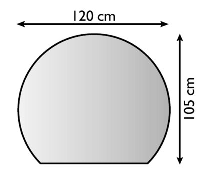 Funkenschutzplatte / Bodenplatte Lienbacher silber Kuppel 120x105cm Bild 1