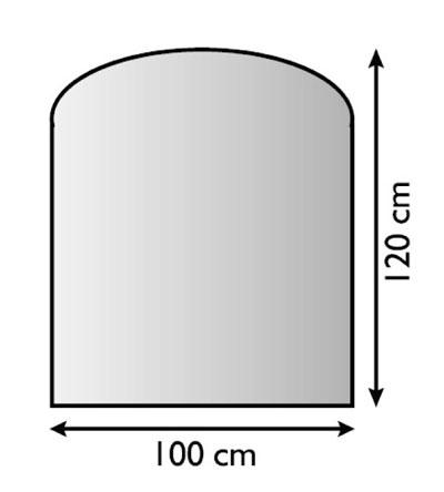 Funkenschutzplatte / Bodenplatte Lienbacher silber Segmentb. 100x120cm Bild 1