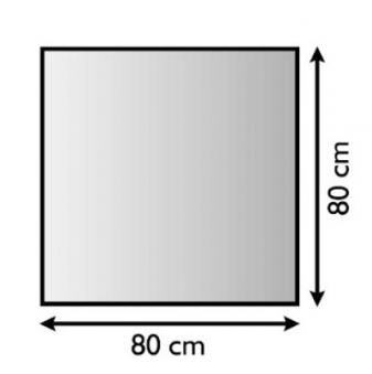 Funkenschutzplatte / Bodenplatte Lienbacher silber-antik 4-Eck 80x80cm Bild 1