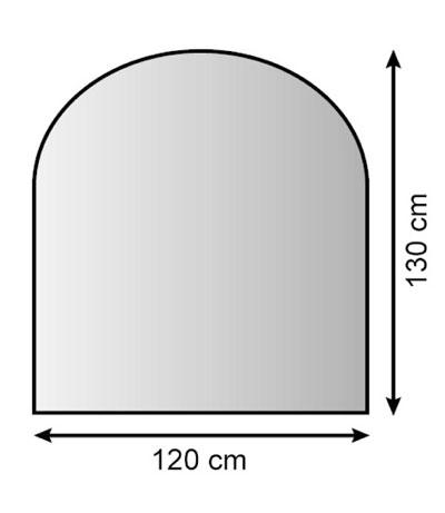 Funkenschutzplatte / Bodenplatte Lienbacher silber halbrund 120x130cm Bild 1