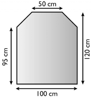 Funkenschutzplatte / Bodenplatte Lienbacher silberf. 6-Eck 100x120cm Bild 1