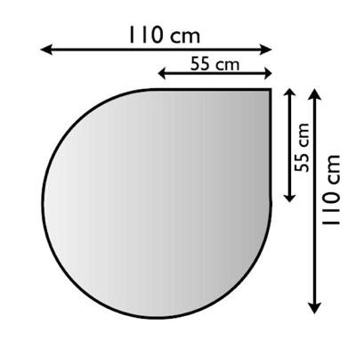 Funkenschutzplatte / Bodenplatte Lienbacher silberf. Tropfen 110x110cm Bild 1
