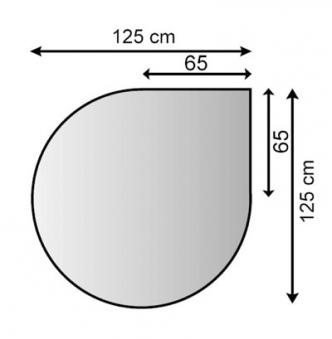 Funkenschutzplatte / Bodenplatte Lienbacher silberf. Tropfen 125x125cm Bild 1