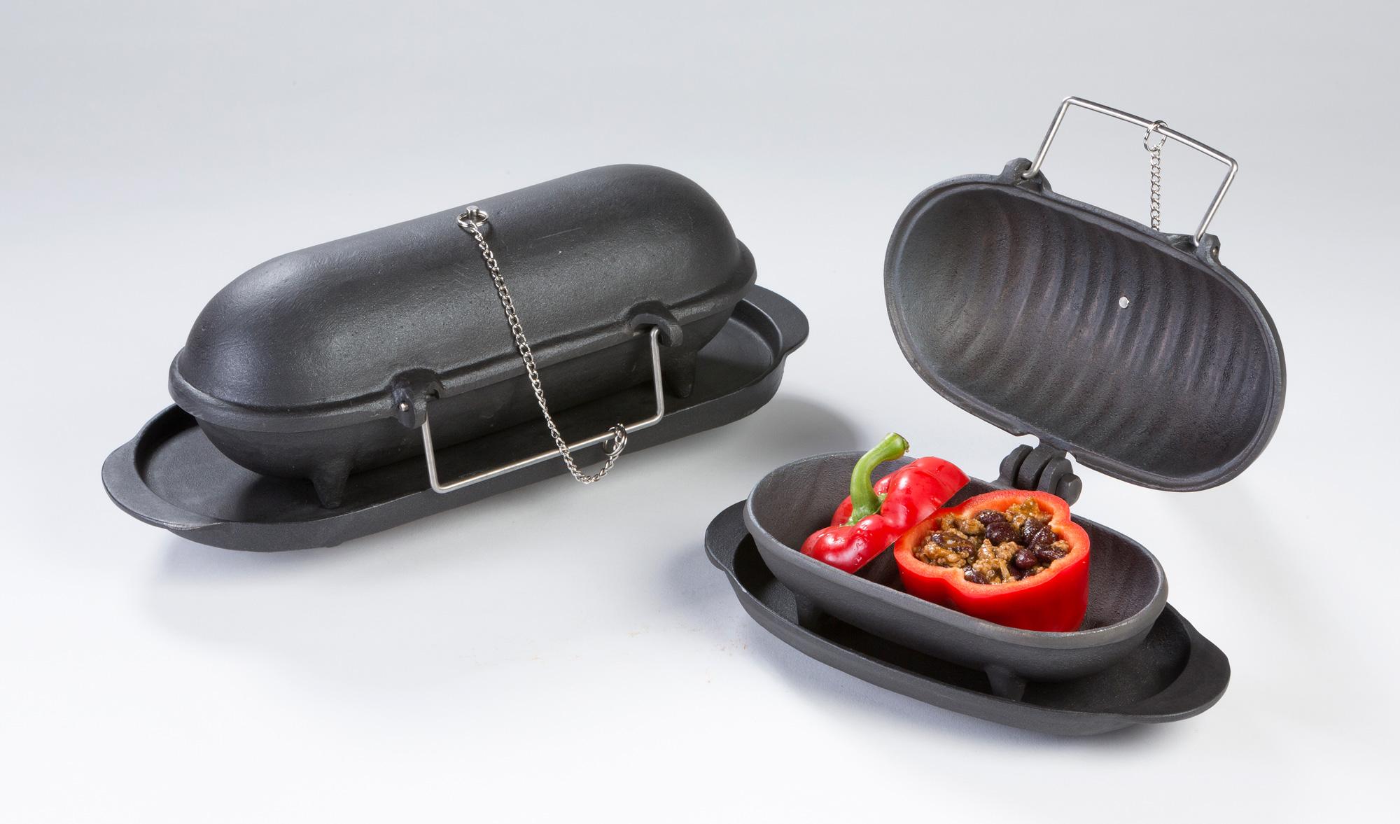 Gusseisen Back/Kochaufsatz Thera Fine cooker L Globe-fire 30x10x12cm Bild 3