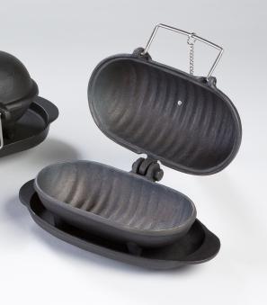 Gusseisen Back/Kochaufsatz Thera Fine cooker L Globe-fire 30x10x12cm Bild 1