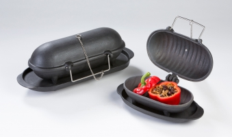 Gusseisen Back/Kochaufsatz Thera Fine cooker S Globe-fire 20x10x12 Bild 3