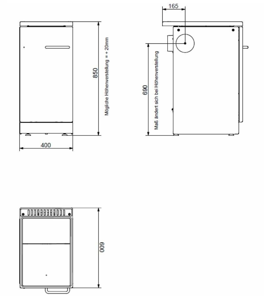 Küchenherd / Kohleherd Bartz HKR 40/60 SF Stahlkochfeld anthrazit Bild 2