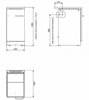Küchenherd / Kohleherd Bartz HKR 40/60 Stahlkochfeld weiß Bild 2