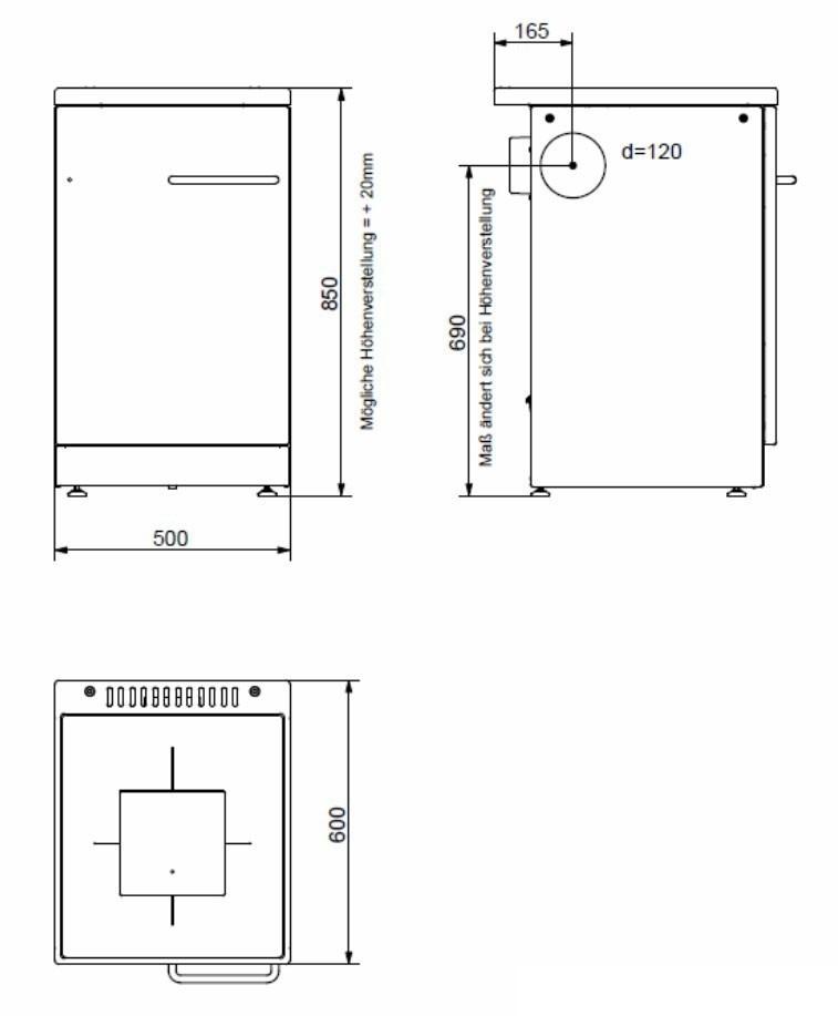 Küchenherd / Kohleherd Bartz HKR 50/60 Stahlkochfeld weiß Bild 2
