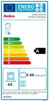 Gasherd - Elektroherd Erdgas / Propangas Amica SHEG 11557 W weiß Bild 2