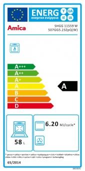 Gasherd Erdgas / Propangas Amica SHGG 11559 W weiß 4 Kochstellen Bild 2