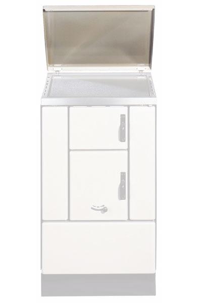 Deckel / Abdeckhaube für Wamsler Kohleherde K150 / K155 weiß Bild 1
