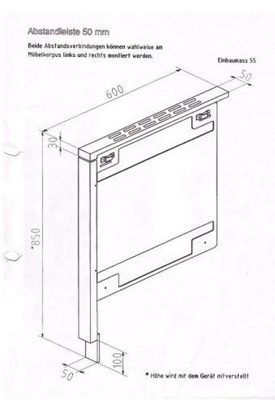 Abstandsverbinder Haas+Sohn Holz- Kohle und Ölherde anthrazit 55mm Bild 2