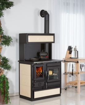 Aufsatz mit Klappe für Globe-fire Küchenherd Alhena bordeaux Bild 2