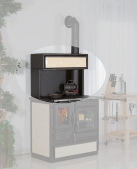Aufsatz mit Klappe für Globe-fire Küchenherd Alhena creme Bild 1