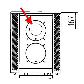 Set für Rauchabzug oben 120mm Wamsler für W1-50 / W2-50 / W1-40