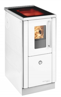 Küchenherd / Kohleherd Haas+Sohn HSD 40.5-SF-C weiß Glaskeramik Bild 1