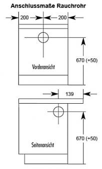 Küchenherd / Kohleherd Wamsler K140C maron Ceran-Kochfeld Bild 2