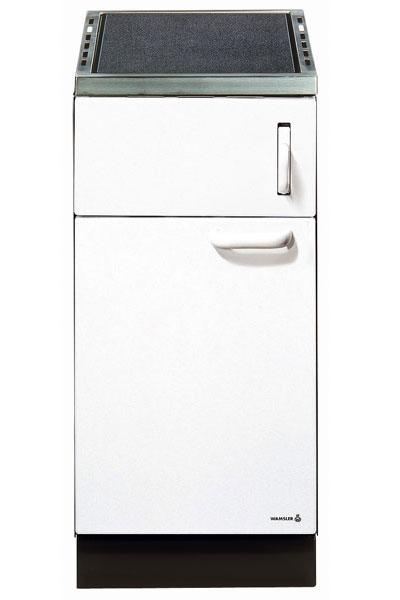Küchenherd / Kohleherd Wamsler K140C weiß Ceran-Kochfeld Bild 1