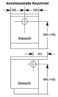 Küchenherd / Kohleherd Wamsler K144C weiß Ceran-Kochfeld Bild 2
