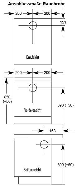 Küchenherd / Kohleherd Wamsler K144S maron Stahlkochfeld Bild 2