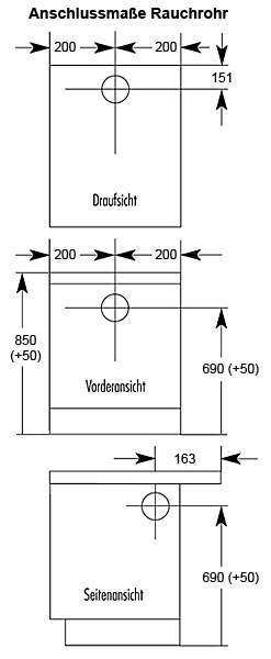 Küchenherd / Kohleherd Wamsler K144S weiß Stahlkochfeld Bild 2