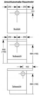 Küchenherd / Kohleherd Wamsler K155S weiß Stahlkochfeld Bild 2