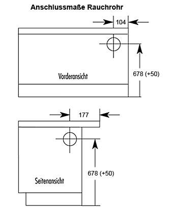Küchenherd / Kohleherd Wamsler K118 maron Ceran-Kochfeld Ans. rechts Bild 2