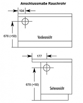 Küchenherd / Kohleherd Wamsler K118 weiß Ceran-Kochfeld Anschluß links Bild 2