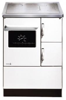 Küchenherd / Kohleherd Wamsler K118 weiß Stahlkochfeld Anschluß links Bild 1
