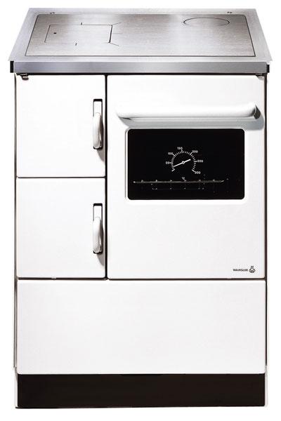 Küchenherd / Kohleherd Wamsler K118 weiß Stahlkochfeld Anschluß rechts Bild 1