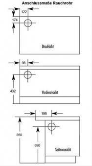 Küchenherd Westminster Wamsler K176 F/A 70cm schwarz Stahl Ans. links Bild 2